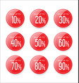 discount sale stickers red collection vector image vector image