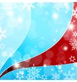 christmas flakes vector image