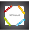 Set of colorful corner ribbons vector image