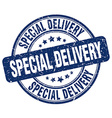 special delivery blue grunge round vintage rubber vector image