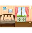 An empty bedroom vector image