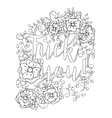 Antistress coloring book page design for adults vector image