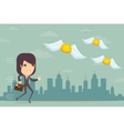 Businesswoman has no money vector image