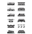 Electric public transportation vector image