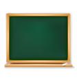 school board with piece of chalk vector image vector image