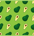 cartoon fresh avocado fruits in flat style vector image