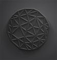 Abstract gray polygonal circle vector image