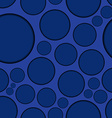 Dark blue background with round shapes seamless vector image vector image