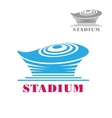 Modern blue stadium or arena icon vector image