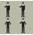 Set of British Police men vector image