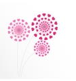 Abstract Heart Flower Background vector image