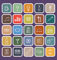 bar line flat icons on purple background vector image
