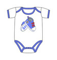 fashion cute clothes for newborn boy vector image