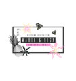 fashionable wedding card with tropical plants vector image