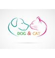 image of an dog and cat vector image