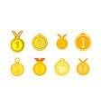 medal icon set cartoon style vector image