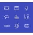 Media or multimedia icon set vector image