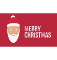 Merry christmas wish on red background card with vector image