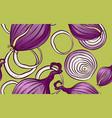 natural organic farming vegetables pattern vector image