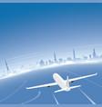 riga skyline flight destination vector image
