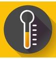Thermometer icon temperature symbol Flat vector image