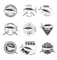 tuna fishing Design elements for fishing team vector image