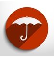 umbrella web icon vector image