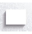 White banner on the wall with floral pattern vector image