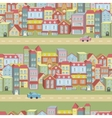 seamless pattern with houses and roads vector image