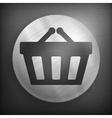 Shopping basket background vector image vector image