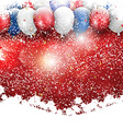 christmas balloons background 1711 vector image