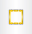 yellow decorative frame background vector image