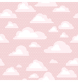 sky with clouds seamless pattern vector image vector image