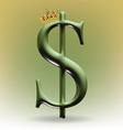 King of money vector image