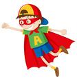 Little boy in superhero costume vector image