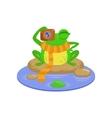 Photographer Cartoon Frog Character vector image