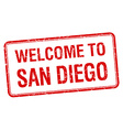 welcome to San Diego red grunge square stamp vector image