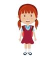 smiling school avatar girl graphic vector image