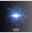 Blue explosion Star burst with sparkles vector image