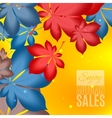 Fall sale design Enjoy autumn sales banner vector image