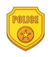 gold police badge icon image vector image