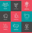 insomnia line icons vector image
