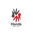 letter h hands care logo vector image