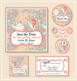 save the date template series 1 vector image