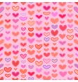 Seamless Valentines pattern with Outline Hearts vector image