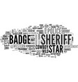 sheriff word cloud concept vector image