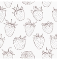 Seamless pattern with strawberries Hand vector image vector image