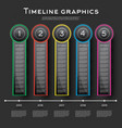 timeline infographics design with five options vector image