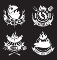 barbecue banners set vector image vector image