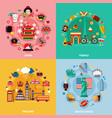 tourism 2x2 design concept vector image